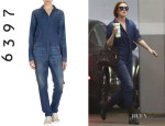 Rumer Willis' 6397 Denim Jumpsuit