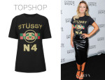 Sam Faiers' Topshop No.4 Motif Tee By Stussy