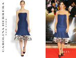 Sandra Bullock's Carolina Herrera Silk Dress