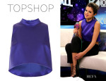Selena Gomez' Topshop High Neck Crop Top