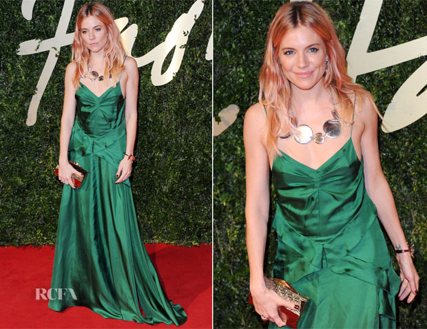 Sienna Miller In Burberry - British Fashion Awards 2013