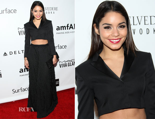 Vanessa Hudgens In Hugo Boss - 2013 amfAR Inspiration Gala Los Angeles