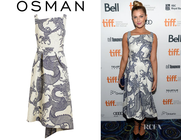 Zoe Levin's Osman Tailored Dragon Brocade Dress