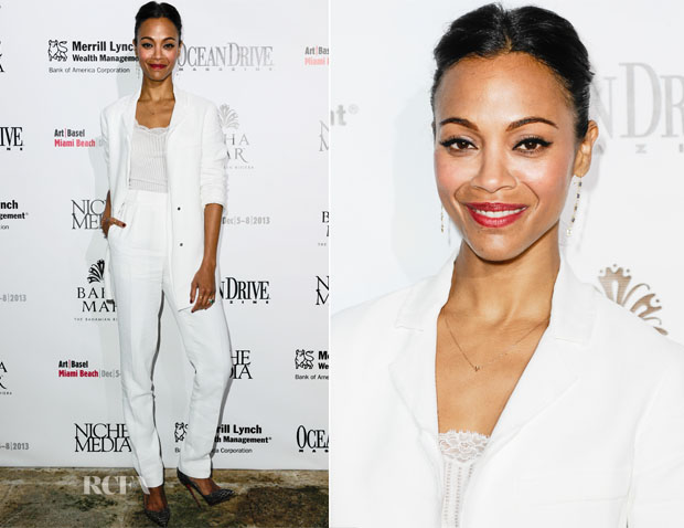 Zoe Saldana In Lanvin - Niche Media Party