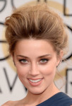 Get The Look: Amber Heard at The Golden Globes