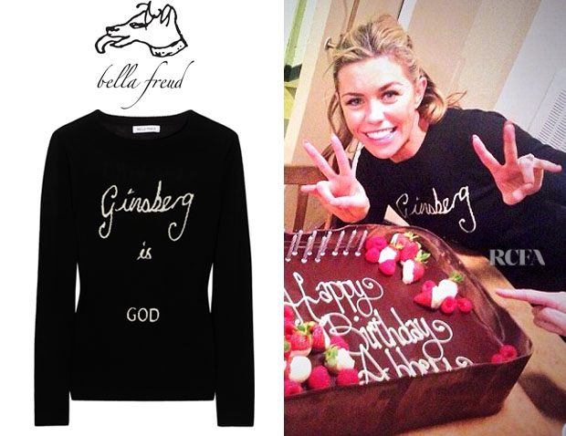 Abbey Clancy's Bella Freud 'Ginsberg is God' Sweater