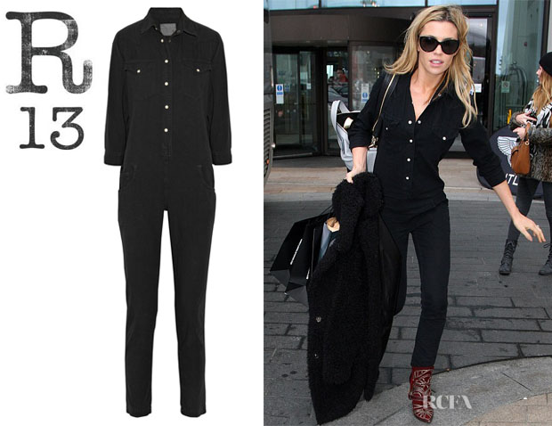 Abbey Clancy's R13 'Cowboy' Denim Jumpsuit