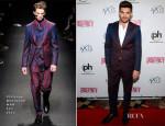 Adam Lambert In Vivienne Westwood MAN - 'Britney: Piece of Me' Opening Night