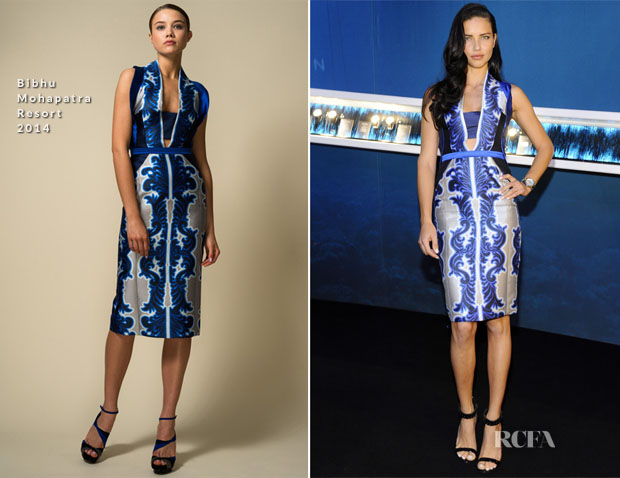 Adriana Lima In Bibhu Mohapatra - IWC Schaffhausen At The SIHH 2014