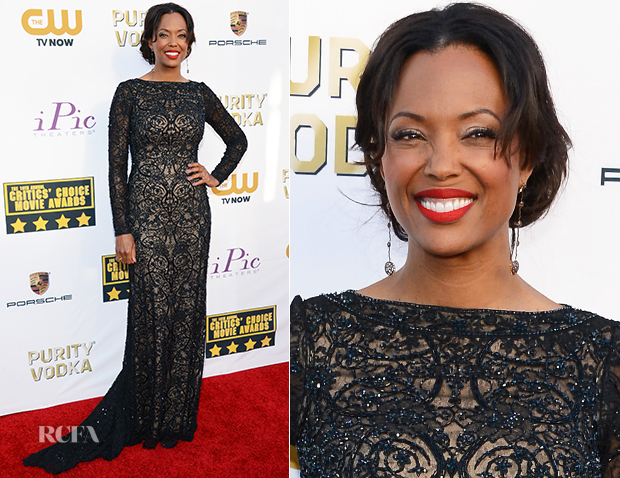 Aisha Tyler In Tadashi Shoji - 2014 Critics' Choice Movie Awards