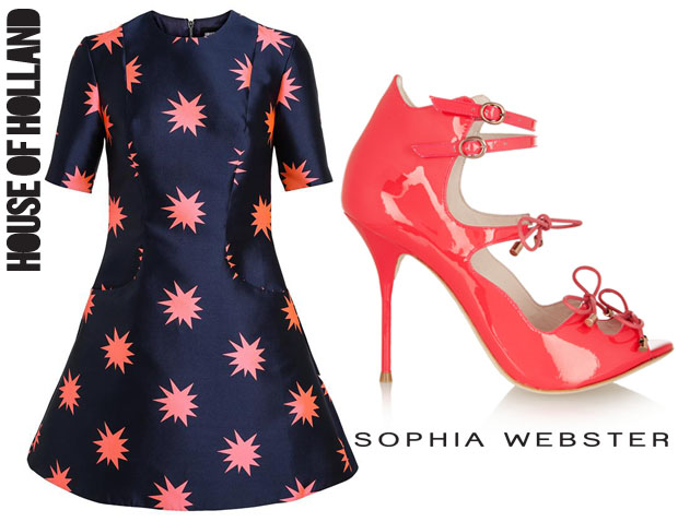 Alesha Dixon House of Holland Explosion Printed Structured Dress