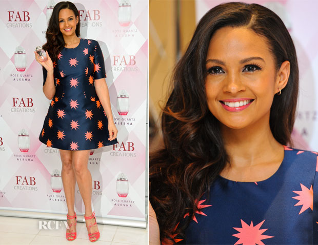 Alesha Dixon In House of Holland - Fragrance Launch Photocall