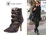 Alessandra Ambrosio's Isabel Marant 'Tacy' Goat Suede Leather Pony Booties