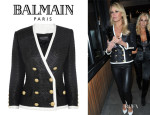 Alex Gerrard's Balmain Coated Tweed Jacket