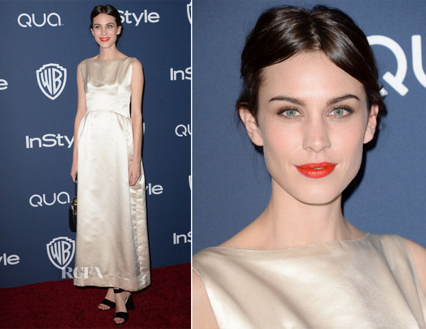 Alexa Chung - InStyle and Warner Brothers Golden Globes Awards Party