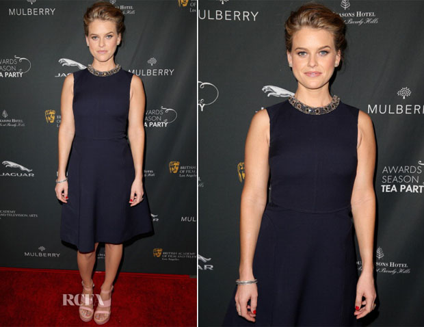 Alice Eve In Mulberry - BAFTA LA 2014 Awards Season Tea Party