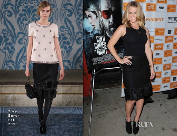 Alice Eve In Tory Burch - 'Cold Comes The Night' LA Premiere