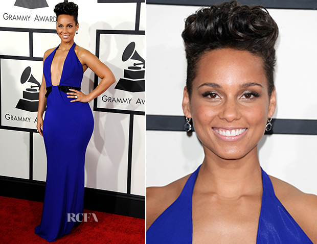 Alicia Keys In Armani Privé - 2014 Grammy Awards