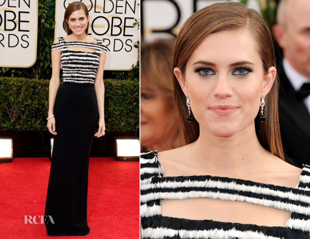 Allison Williams In Alexander McQueen - 2014 Golden Globe Awards