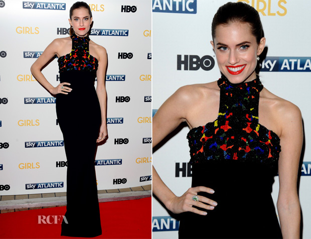 Allison Williams In Alexander McQueen - 'Girls' Season 3 London Premiere