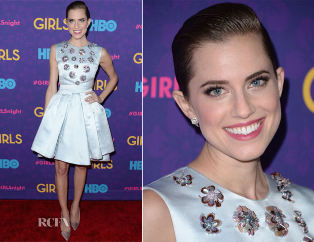 Allison Williams In Christian Dior - 'Girls' Season Three Premiere