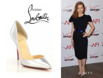 Amy Adams' Christian Louboutin 'Iriza' Metallic Leather Pumps