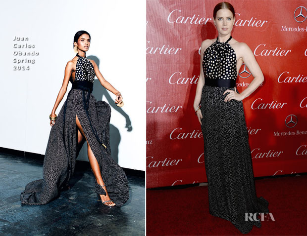 Amy Adams In Juan Carlos Obando - 2014 Palm Springs International Film Festival Awards Gala