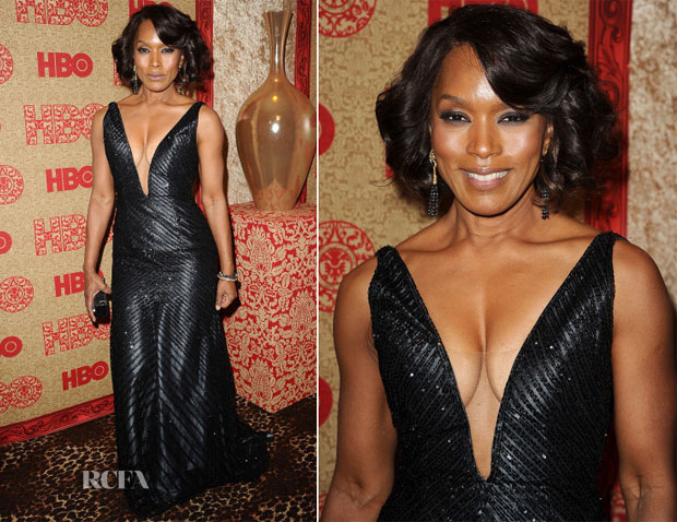 Angela Bassett In Ines Di Santo - HBO's Golden Globe Awards Party