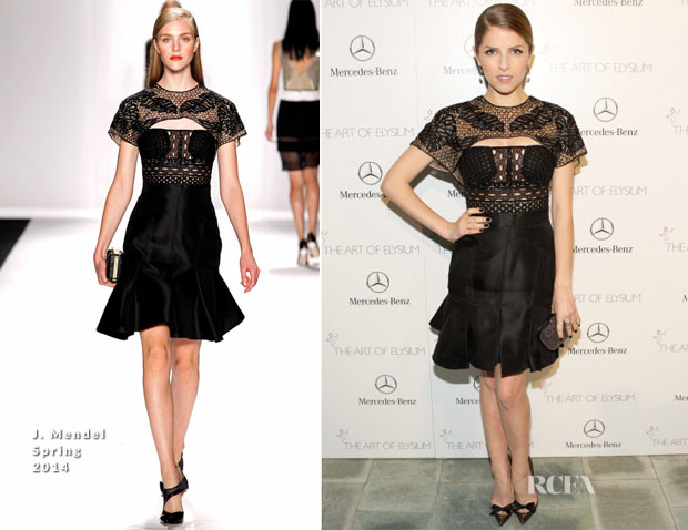 Anna Kendrick In J Mendel - Art of Elysium Heaven Gala