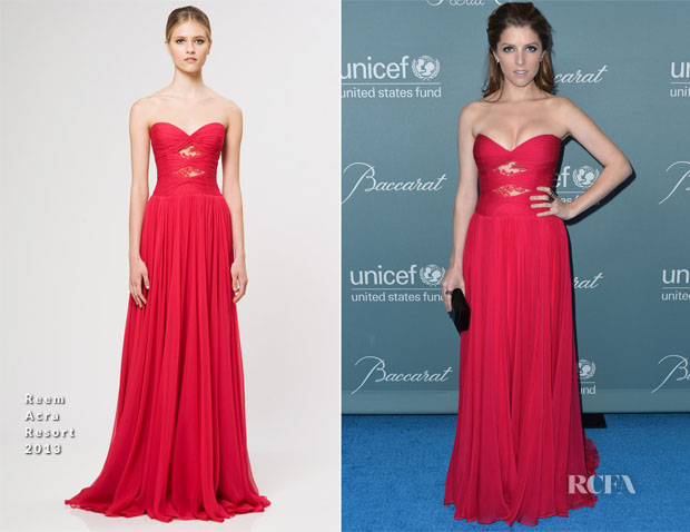 Anna Kendrick In Reem Acra - 2014 UNICEF Ball
