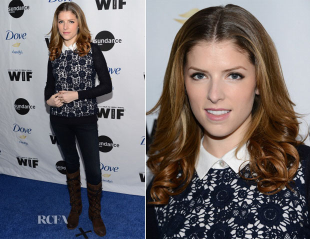 Anna Kendrick In Tory Burch - Women At Sundance Brunch