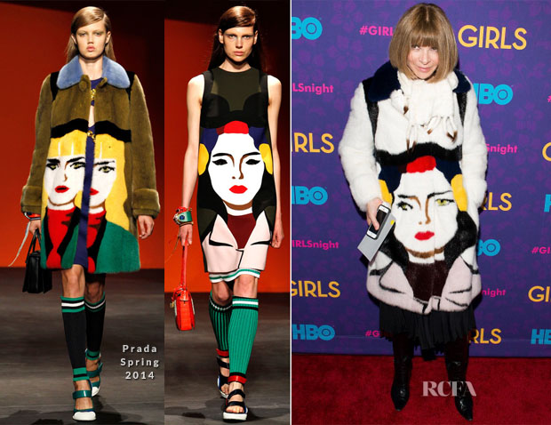 Anna Wintour In Prada - 'Girls' Season Three Premiere