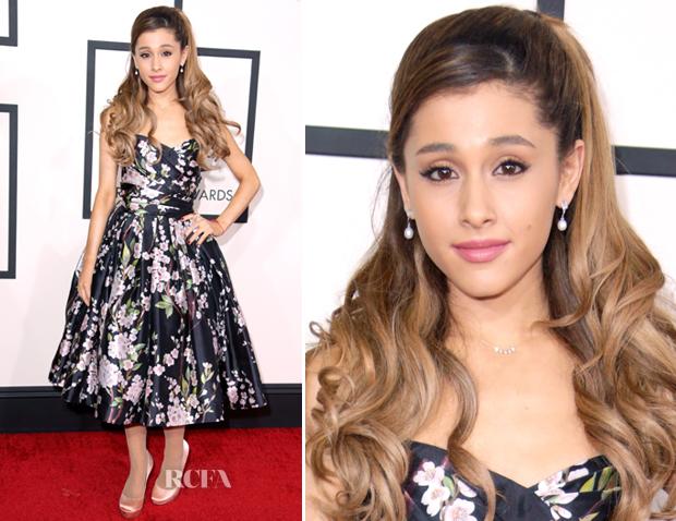 ArianaGrandeInDolce&Gabbana2014GrammyAwards