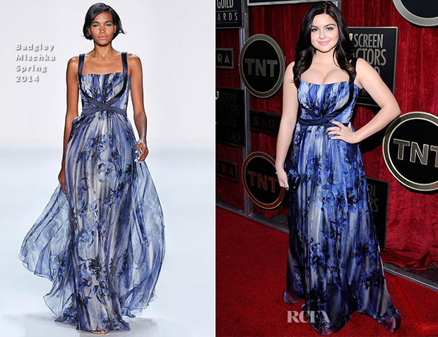 Ariel Winter In Badgley Mischka - 2014 SAG Awards