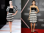 Ashley Madekwe In Giorgio Armani - Audi Celebrates The 2014 Golden Globes Weekend