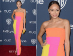 Ashley Madekwe In Roksanda Ilincic - InStyle and Warner Brothers Golden Globes Awards Party