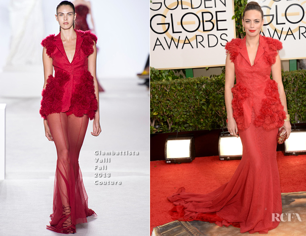 Berenice Bejo In Giambattista Valli Couture - 2014 Golden Globe Awards