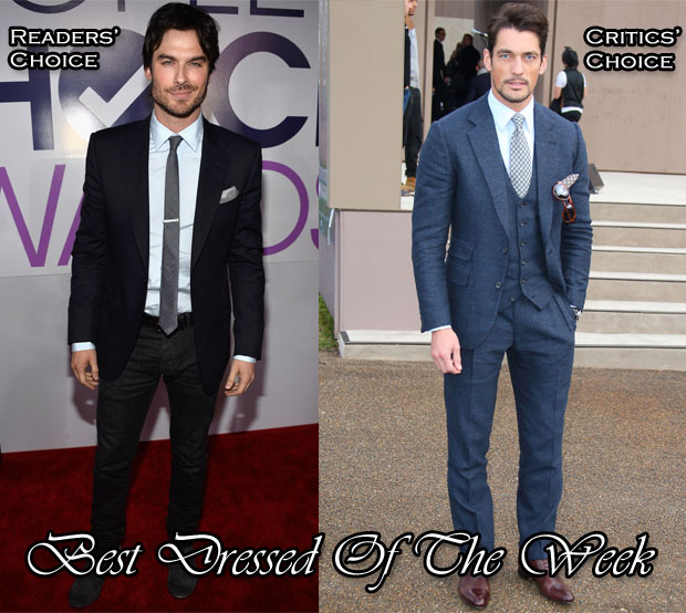 Best Dressed Of The Week -  Ian Somerhalder in Z Zegna & David Gandy