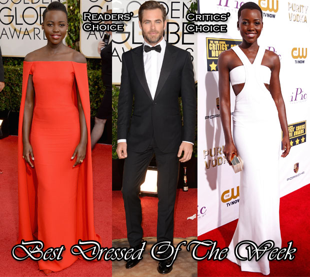 Best Dressed Of The Week - Lupita Nyong'o In Ralph Lauren & Calvin Klein Collection and Chris Pine In Ermenegildo Zegna Couture2