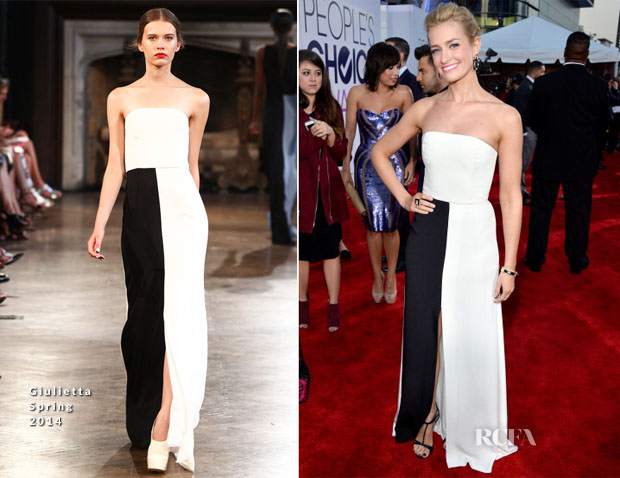 Beth Behrs In Giulietta - 2014 People's Choice Awards