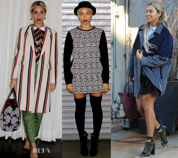 Beyonce Knowles In Dries van Noten, Tibi & Topshop