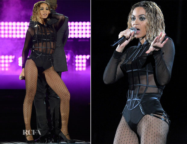 Beyonce Knowles In La Perla  - 2014 Grammy Awards Performance