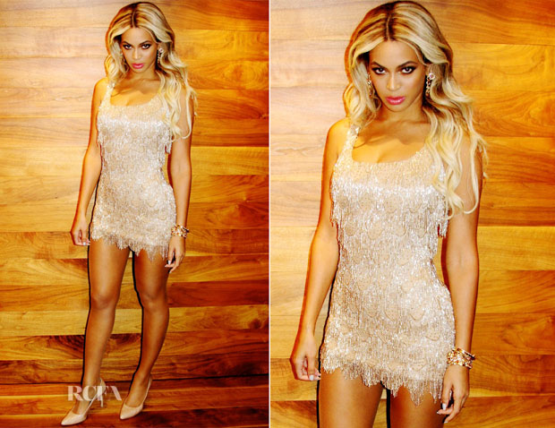 Beyonce Knowles In Randi Rahm - Michelle Obama's 50th Birthday Party
