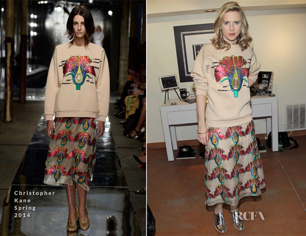 Brit Marling In Christopher Kane - The Variety Studio Sundance Edition