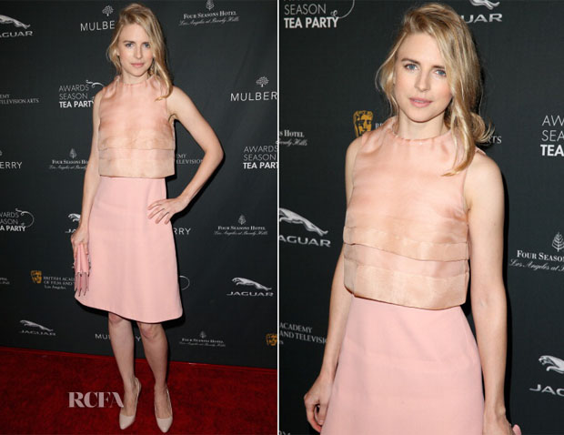 Brit Marling In Mulberry - BAFTA LA 2014 Awards Season Tea Party