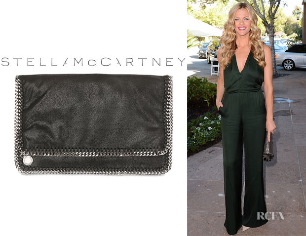 Brooklyn Decker's Stella Mccartney Shaggy Faux Deer Foldover Clutch