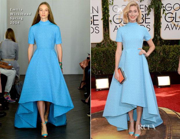Caitlin Fitzgerald In Emilia Wickstead - 2014 Golden Globe Awards