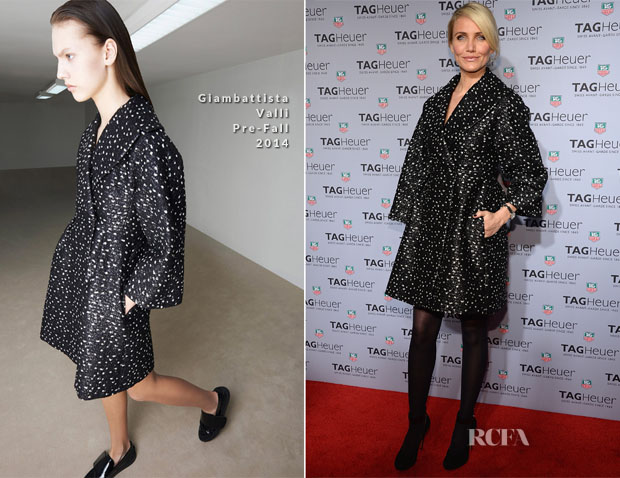 Cameron Diaz In Giambattista Valli - TAG Heuer New York City Flagship Store Opening