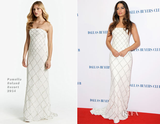 Camila Alves In Pamella Roland - 'Dallas Buyers Club' London Premiere