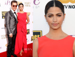 Matthew McConaughey In Lanvin & Camila Alves In Paule Ka - 2014 Critics' Choice Movie Awards
